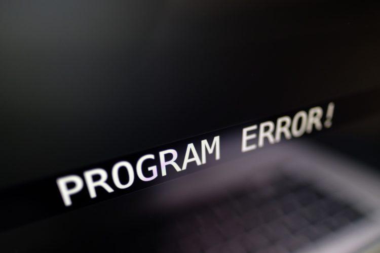 プログラムエラー